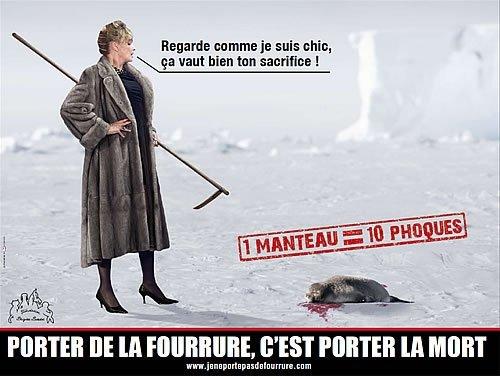 PORTER LA FOURRURE C'EST PORTER LA MORT