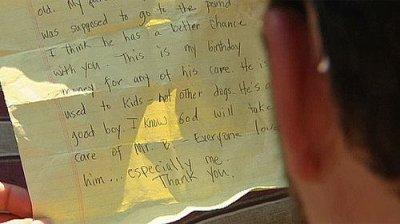 """""""L'émouvante lettre d'un enfant forcé d'abandonner son chien"""""""