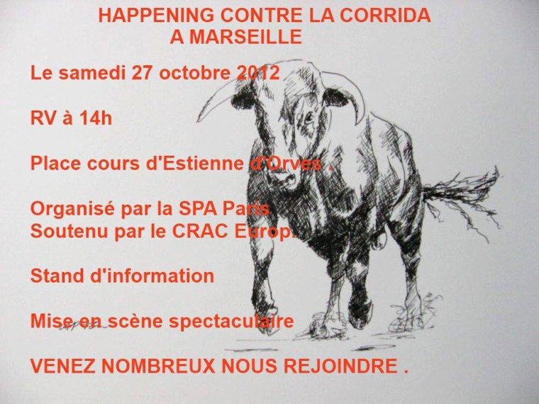 MARSEILLE - HAPPENING ANTI CORRIDA
