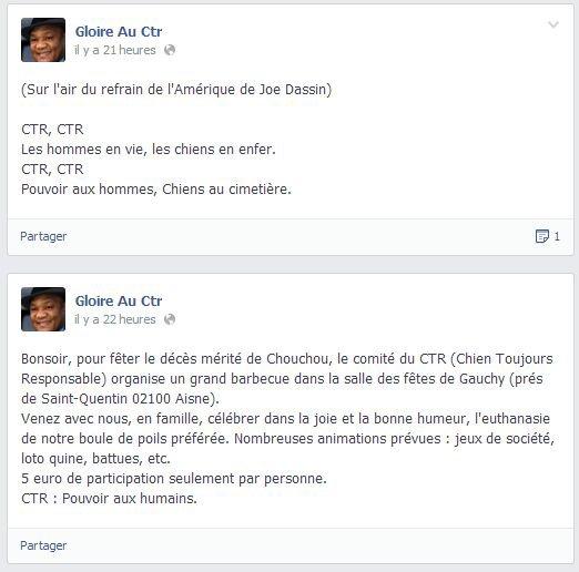 Chouchou a été tué le 7 août 2013, bravo la SPA !!!!
