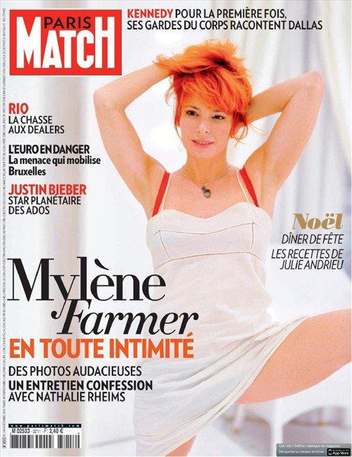 """Mylène Farmer à la Une de """"Paris-Match"""""""