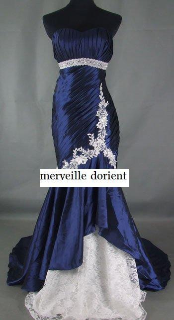 bleu nuit robe faite sur mesure delais de confection 1mois 99¤