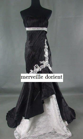 noire robe faite sur mesure delais de confection 1mois 99¤