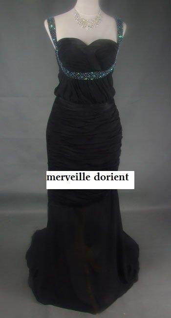 robe noire eva langoria faite sur mesure delais de confection 1mois 99¤