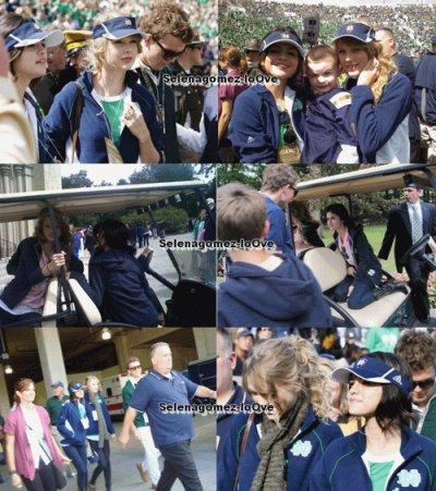 Samedi 4 Septembre : Selena en Compagnie de Taylor Swift étaient au Match de Football de Notre Dame !