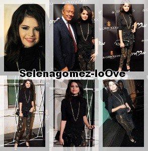 29/09/10  Selena à assisté au lancement pour 'Promise ', une nouvelle collection de Bijoux créée par Cheryl Cole. Voici quelque photo :)