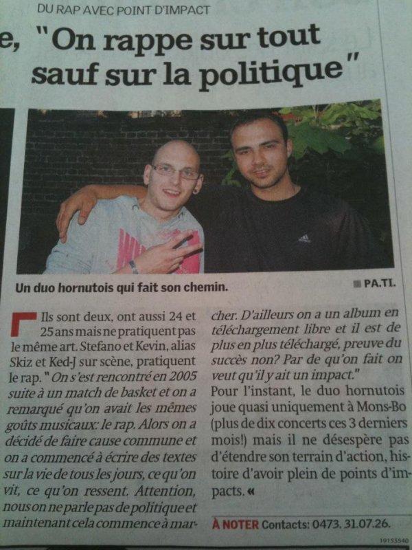 premiere article dans le journal la province sisi