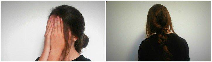 2 coiffures coiffées/décoiffées