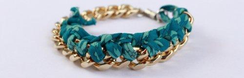 DIY: bracelet chaine tressée
