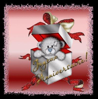 Image D Un Petit Nounours Dans Une Boite Pour Un Joyeux Anniversaire
