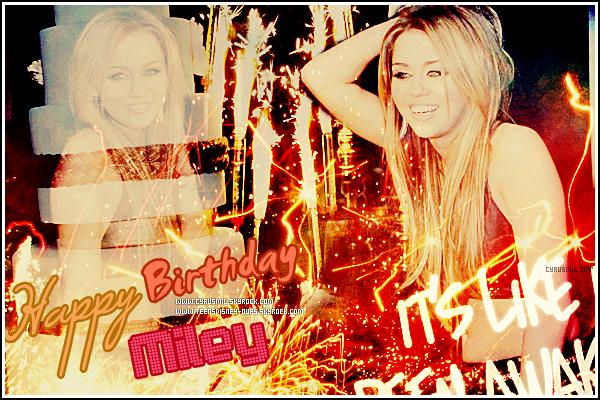Happy 18th Birthday Miley Cyrus ! Alors, qu'est-ce que tu lui souhaites ?