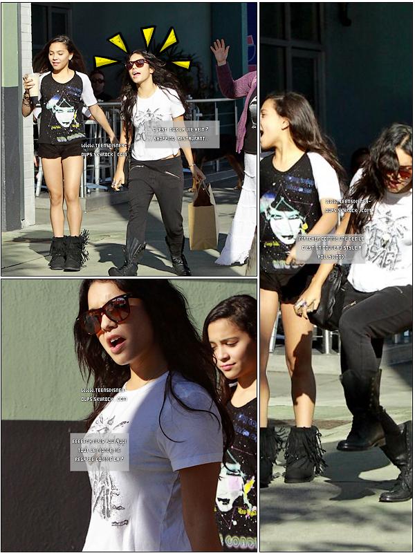 Vanessa dans tous ses états dans les rues de Los Angeles. Et bah bravo.