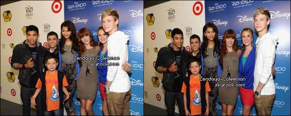 Samedi 20 Août : Zendaya et le cast Shake it Up étaient présent au Disney's D23 Expo 2011 à Anaheim, en Californie