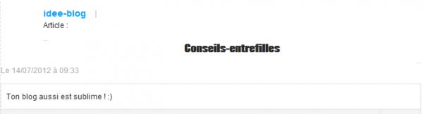 _ Conseils-entrefilles  _