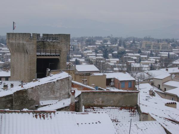 la neige a Carpentras