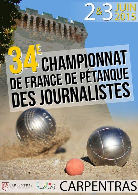 34ème championnat de France de pétanque des journalistes