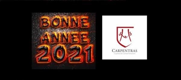 La ville de Carpentras je souhaite une bonne année 2021