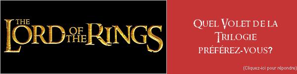 [ Rubrique n°4 ]Le Seigneur des Anneaux existe grâce à J.R.R Tolkien. Les films existent grâce à Peter JacksonLes personnages ont pris vie sur nos écrans grâce aux fabuleux acteurs les incarnantMais nous aussi nous y avons indirectement contribuer. Qui nous? Les fans bien sur !