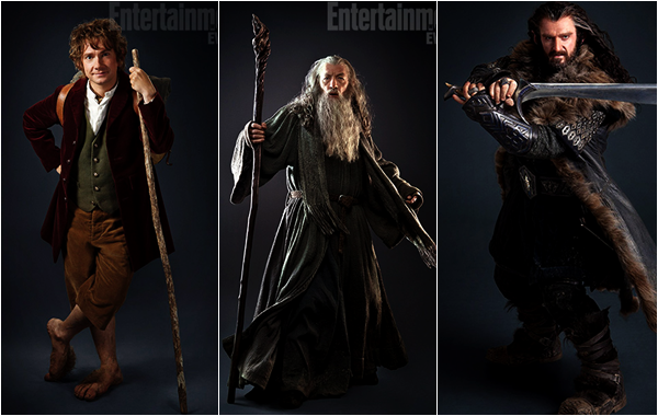 # The Hobbit:PHOTOS OFFICIELLES DE GANDALF, BILBO, et THORIN !