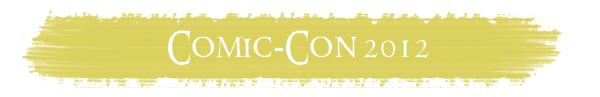 # COMIC-CON 2012:Journée du 11 Juillet 2012 - Visite du Stand The Hobbit & WETA !Découverte des Trolls