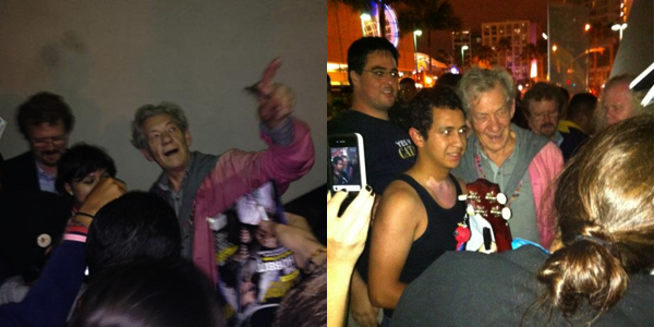 # COMIC-CON 2012:Ian McKellen est arrivé !