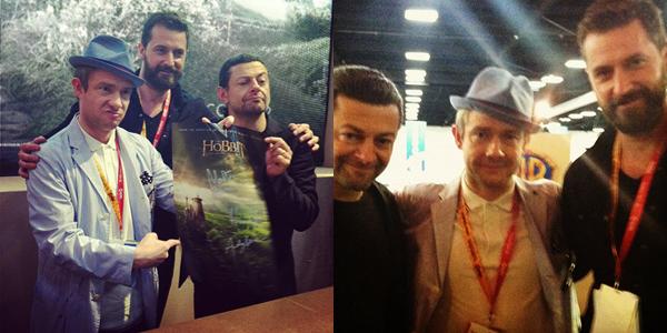 # COMIC-CON 2012:Séance de dédicace en compagnie de Martin, Richard & Andy !