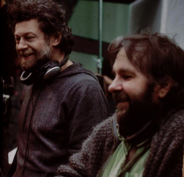 # The Hobbit :Peter Jackson & Andy Serkis, sur le tournage