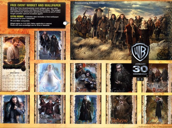 # The Hobbit:Le Calendrier du film avec des photos inédites !