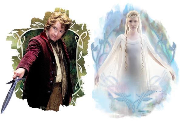 #TheHobbit :Nouvelles photos de Bilbo Baggins & Galadriel
