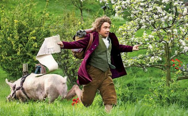 #TheHobbit :Bilbo Baggins à Hobbiton - Photo