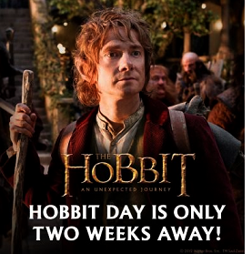 #TheHobbit :La journée du Hobbit est dans 2 semaines