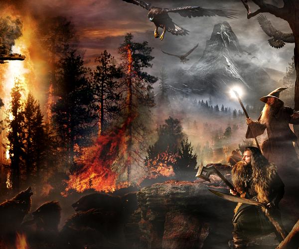 #TheHobbit :Vous vous souvenez de la bannière de The Hobbit qui a été diffusé il y a quelques semaines?Une nouvelle bannière a été publiée (voir) et on découvre à la fin une nouvelle image mettant en avantThorin, Gandalf, et les aigles. Est ce un indice sur la scène qui clôturera la fin du premier volet?