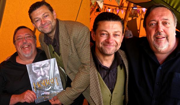 """#TheHobbit :Andy Serkis et Brian Sibley pour le """"Hobbit Day"""" ce week-end !L'interprète de Gollum a fait une lecture publique de The Hobbit à Londres !"""