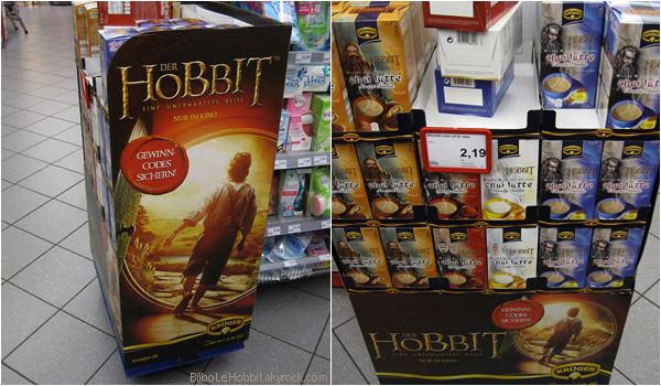 #TheHobbit :Regardez ce qu'on peut déjà trouver en Allemagne! Du chocolat, Cappucino et café aux couleurs de The Hobbit !J'espère vraiment qu'on aura droit à ça ici en France ! J'aimerais vraiment goûter tout ça