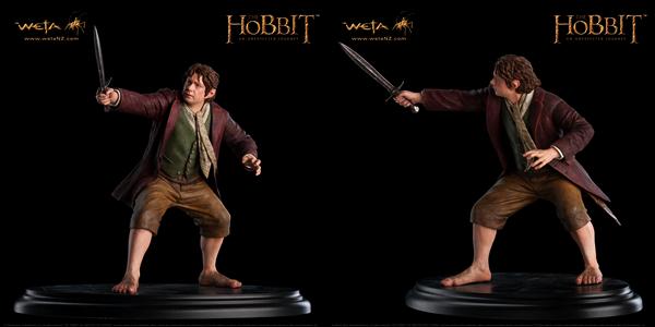 #TheHobbit :En plus des répliques d'armes, WETA dévoile les statues du trio principal! Les statues de Gandalf et Thorin sont respectivement à vendre pour la somme de 250 dollars, celle de Bilbo pour 200$