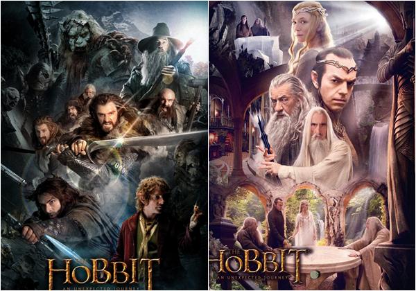 #TheHobbit :Deux Nouveaux posters pour le film
