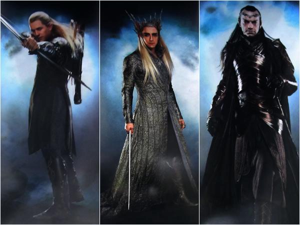 #TheHobbit :Visuels de Legolas,Thranduil et Elrond