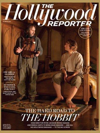 ■ [ Presse 2012 ]  Peter Jackson et Le Hobbit font la une du magazine The Hollywood Reporter