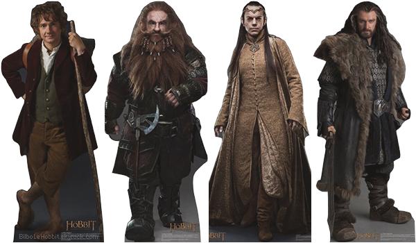 ■ [ The Hobbit ]  Silhouettes des personnages