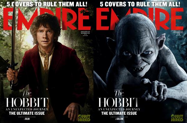 ■ [ The Hobbit ]  Le film fait la une du magazine anglais EMPIREAvec 5 couvertures différentes !