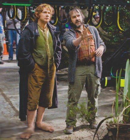 ■ [ The Hobbit ]  Peter Jackson et Martin Freeman sur le tournage