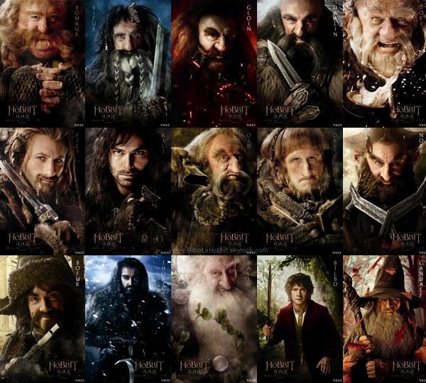 ■ [ The Hobbit ]  Les Affiches individuelles en meilleure qualitéLaquelle préférez-vous?
