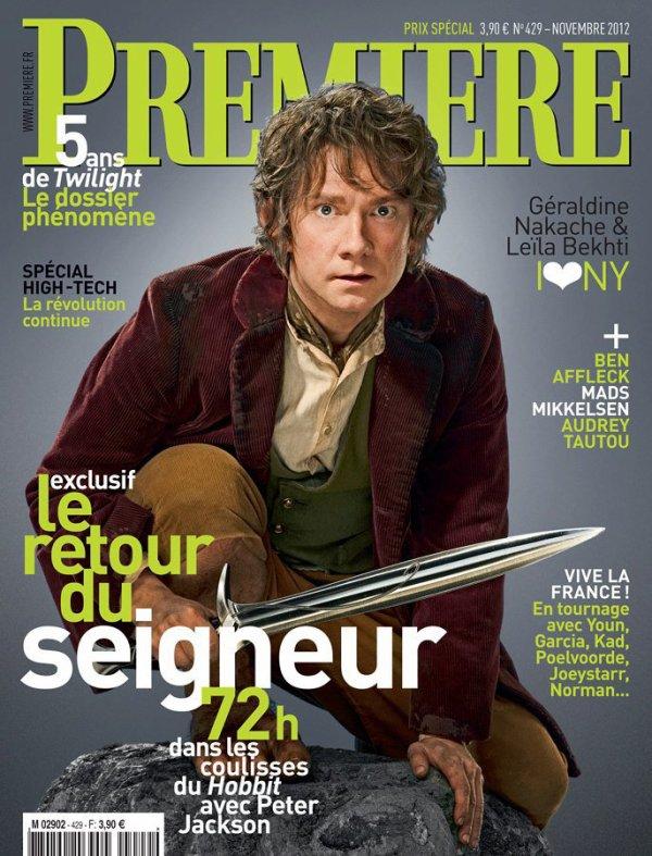 ■ [ The Hobbit ]  Le film fait la une du magazine PREMIÈRE !