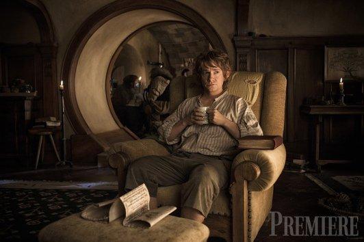 ■ [ The Hobbit ]  Nouveau Cliché de Bilbo via Première !