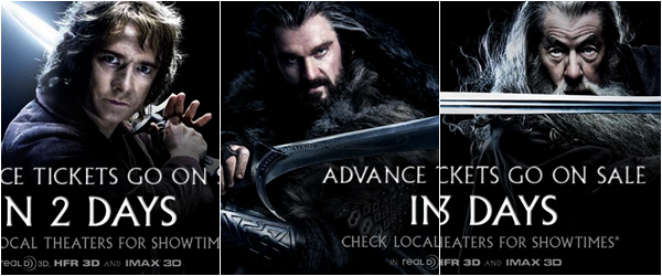■ [ The Hobbit ]  Photo du tournage du film avec Dwalin, Kili et Fili !Et Nouvelles photos promotionnelles de Thorin, Bilbo & Gandalf