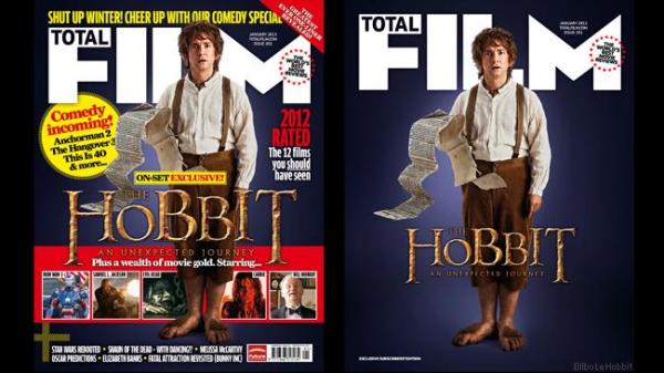 ■ [ The Hobbit ]  Le Hobbit et Bilbo a la une du magazine anglais Total Film