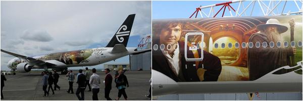 ■ [ The Hobbit ]   Les Avions The Hobbit débarquent en Nouvelle-Zélande ! Air New Zealand's Boeing 777-300 in Hobbit livery