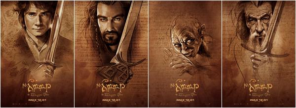 ■ [ The Hobbit ]  Quatre nouvelles affiches