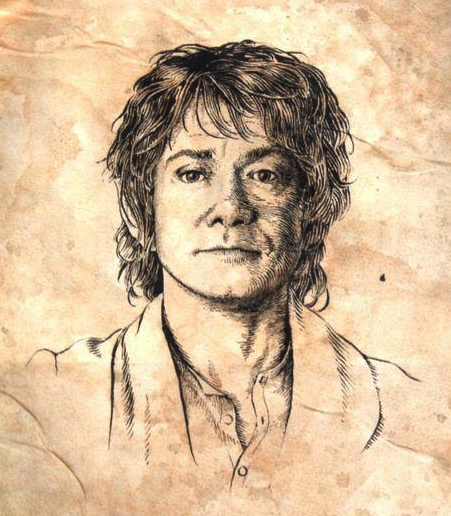 ■ [ The Hobbit ]  Portrait de Bilbo Baggins jeune