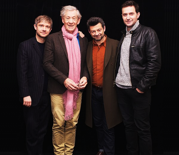 ■ [ The Hobbit ]  Martin, Sir Ian, Andy & Richard pendant la promotion du film